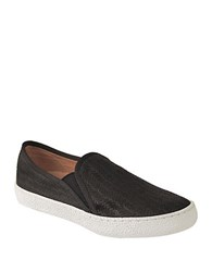 Corso Como Duffy Leather Slip On Sneakers Black