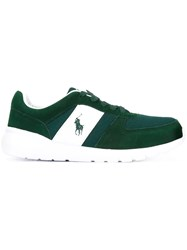 Polo Ralph Lauren Logo Embroidered Sneakers Green