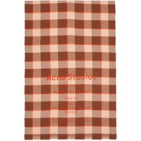 Acne Studios Brown And Pink Cassiar Scarf