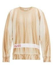 Helmut Lang Strange Days Cotton Jersey Sweatshirt Beige Multi