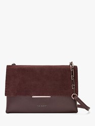Ted Baker Rhodaa Leather Cross Body Bag Bordeaux
