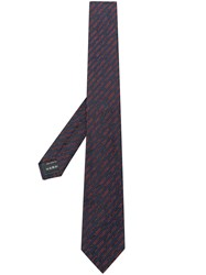 Z Zegna Striped Tie Blue