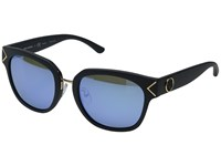 Tory Burch 0Ty9041 Matte Navy Blue Flash Polarized Mirror Fashion Sunglasses Black