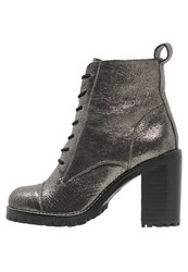 Office Ammo Platform Boots Pewter Silver