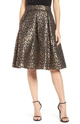 Eliza J Women's Flared Jacquard Skirt