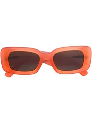 Linda Farrow Rectangular Sunglasses Yellow And Orange