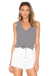 Michael Stars Amalfi Ribbed Stripe Tank Navy