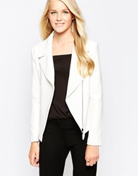 Closet Biker Jacket With Side Zip White