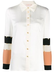 Tory Burch Studded Patchwork Shirt White