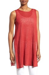 Eileen Fisher Women's Organic Linen Blend Knit Tunic Serrano