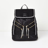 River Island Womens Ri Active Mono Foldover Sports Backpack