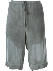 Lost And Found Layered Knee Shorts Grey
