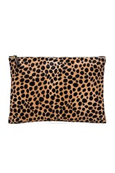 Clare V. Oversize Clutch Brown