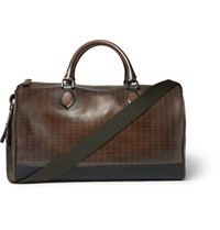 Berluti Jour Off Embossed Leather Holdall Brown
