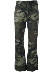 Maison Martin Margiela Mm6 Camouflage Print Trousers Green