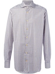 Kiton Checked Shirt Nude And Neutrals