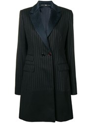 Gianfranco Ferre Vintage 1980'S Pinstripe Tailored Coat Black