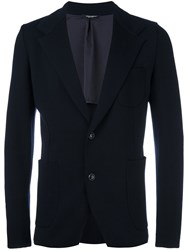 Dolce And Gabbana Knitted Blazer Blue