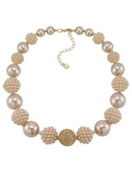 Carolee Colored Pearl Stone Necklace Gold