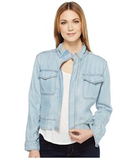 Calvin Klein Jeans Utility Jacket Worn Light Women's Coat Blue