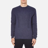 Msgm Men's Knitted M Jumper Blue