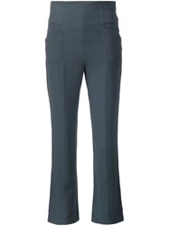 Maiyet Cropped Boot Cut Trousers Grey