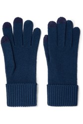 Marc By Marc Jacobs Lucy Merino Wool Gloves Storm Blue