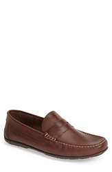 Sandro Moscoloni 'Paris' Leather Penny Loafer Men Brown