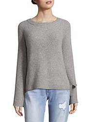 Cashmere Saks Fifth Avenue Lace Up Sides Sweater Winter White