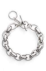 Women's Kate Spade New York 'How Charming' Chain Link Bracelet Silver