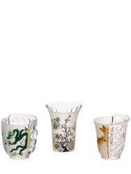 Seletti Hybrid Aglauria Set Of 3 Glasses Multicolor