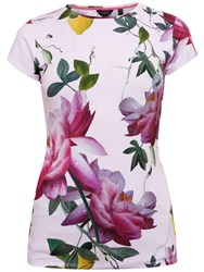 Ted Baker Alicie Citrus Bloom Fitted T Shirt Pink