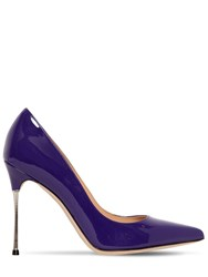 Sergio Rossi 105Mm Godiva Patent Leather Pumps Purple