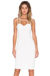 Aq Aq Starlet Midi Dress White