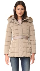 Add Down Jacket With Faux Fur Moka