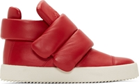 Giuseppe Zanotti Red Leather Padded London Lounge Sneakers