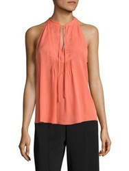 A.L.C. Levi Sleeveless Silk Top Coral