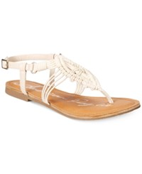 American Rag Palima Embroidered Flat Sandals Only At Macy's Women's Shoes Ivory