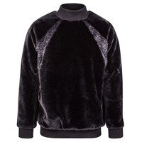 W.S. Studio Black Faux Fur Top