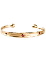 Roman Paul Ruby Studded Bangle Metallic