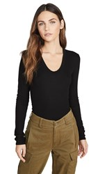 Enza Costa Rib Fitted Top Black