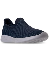 Skechers Women's 4 You Define Casual Walking Sneakers From Finish Line From Finish Line Navy Blue