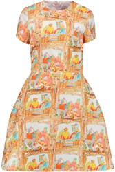 Stella Jean Printed Cotton Dress Orange