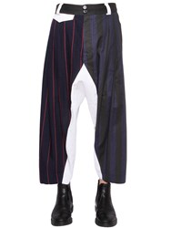 Vivienne Westwood Patchwork Wool And Cotton Pants