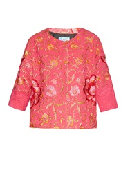 By Walid Vintage Embroidered Piano Shawl Silk Jacket