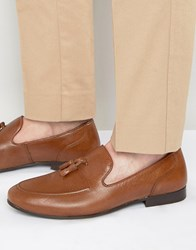Red Tape Tassel Loafers In Tan Leather Tan