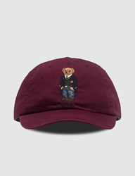 Polo Ralph Lauren Bear Embroidery Cap Red