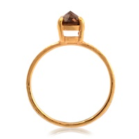 Fera Spike Stack Ring Smoky Quartz Gold
