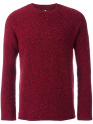 Paul Smith Ps By Crew Neck Flocked Jumper Red