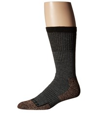 Carhartt Force Steel Toe Copper Crew Socks 1 Pair Pack Charcoal Heather Men's Crew Cut Socks Shoes Gray